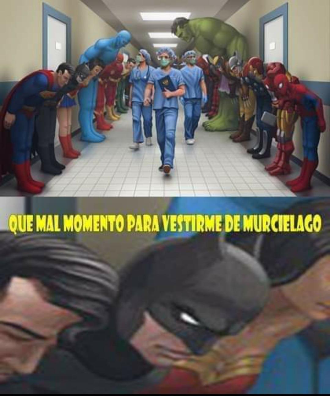Dos pequeñas lagunas en el homenaje de los super héroes a los sanitarios
