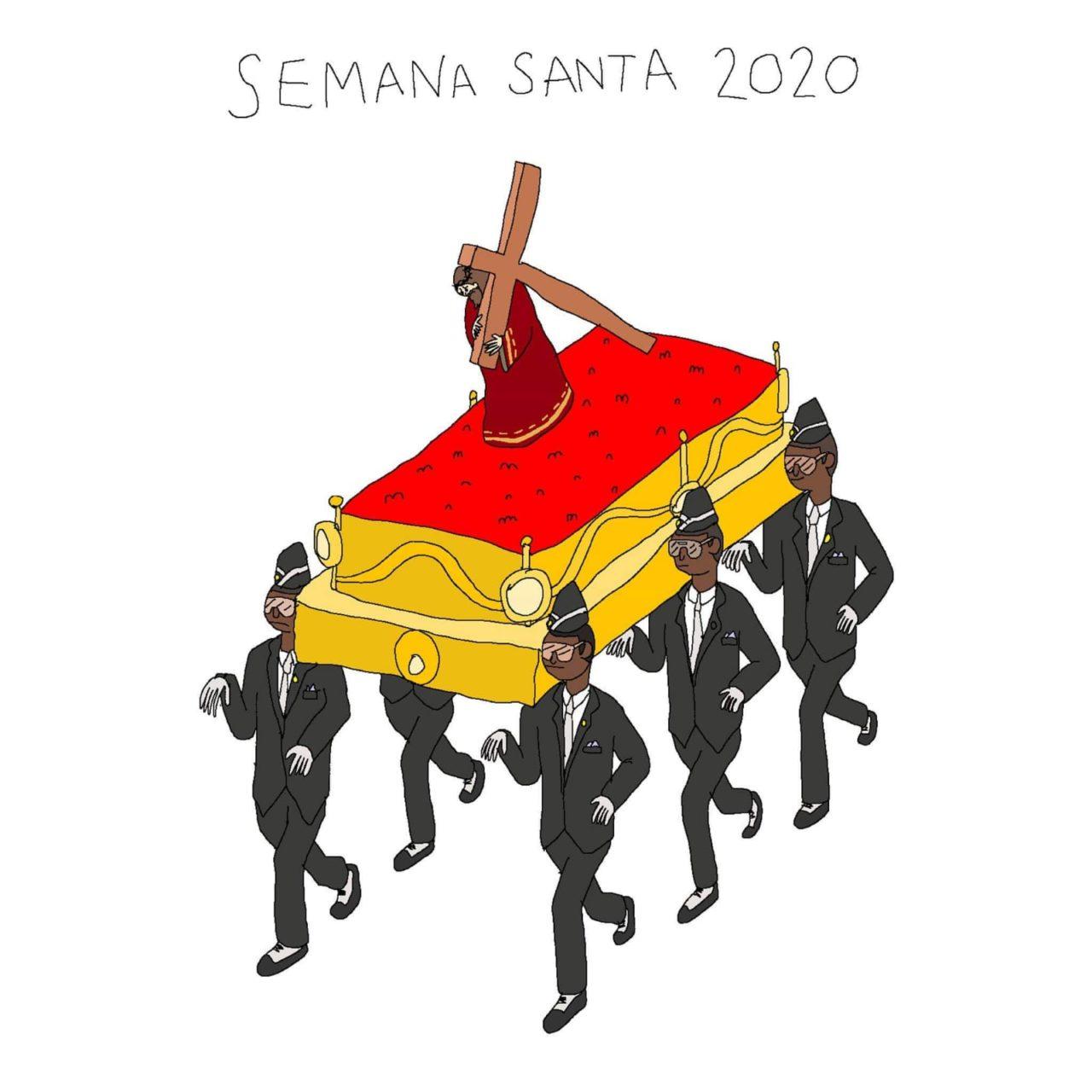 Este meme vino a compensar la falta de procesiones esta Semana Santa