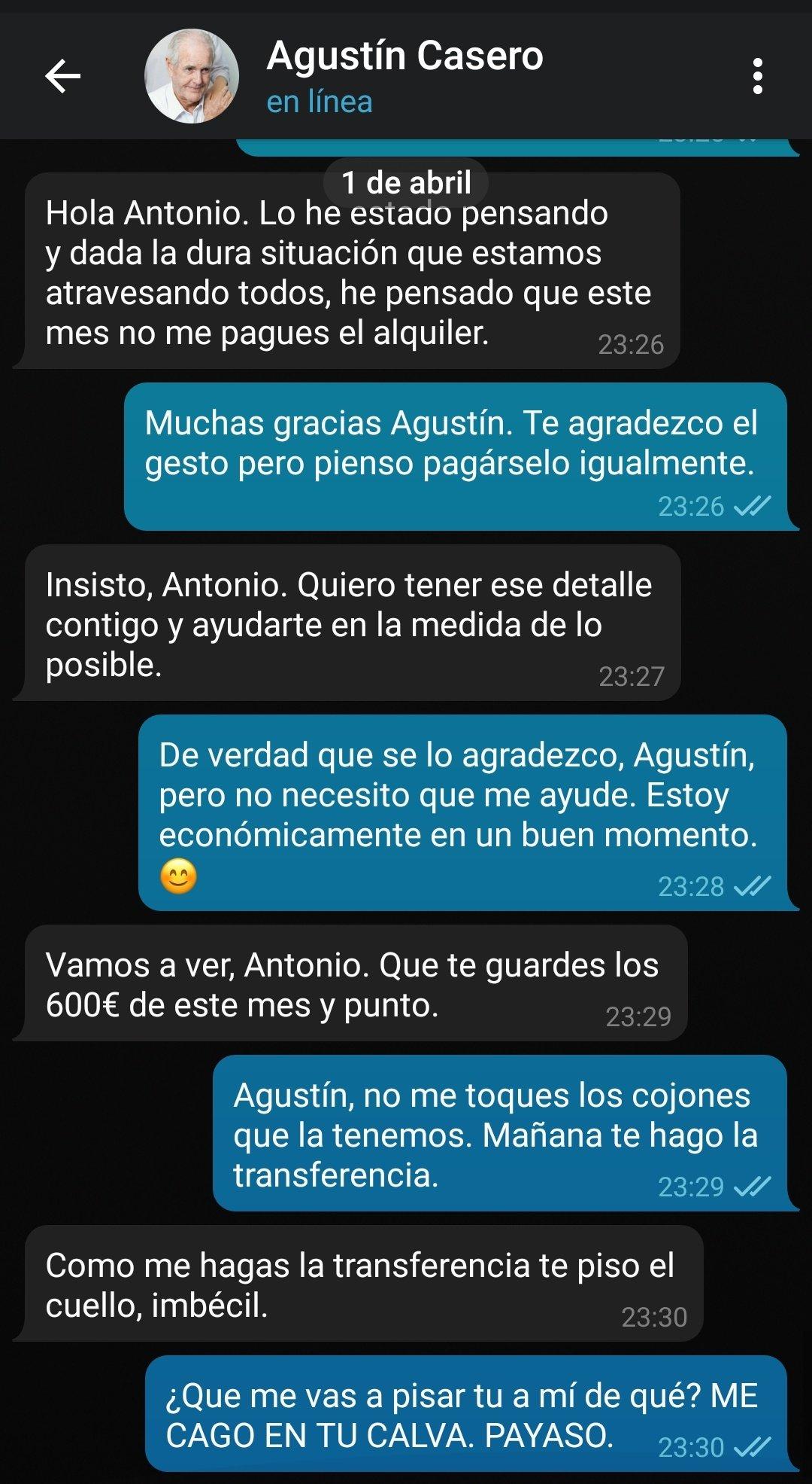 Agustín ya vale...