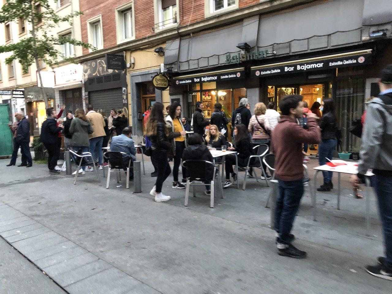 Así estaban ayer las calles de Vitoria