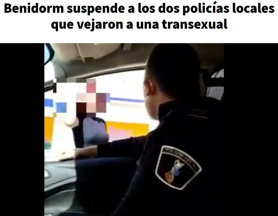 """Y hoy en """"Policías Polis"""": Humillando a un transexual"""