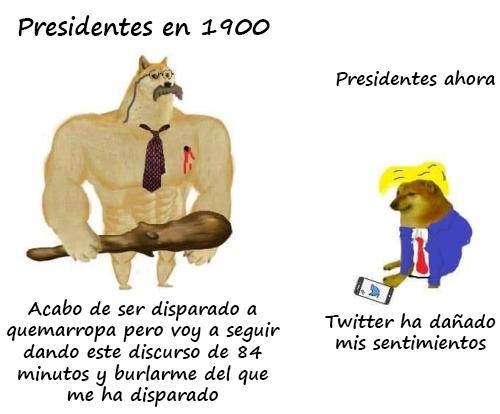 Presidentes antes vs presidentes ahora