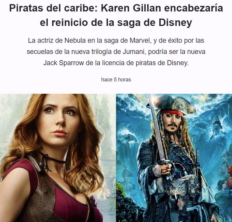 Disney aparta a Johnny Depp y mete a una mujer en la piel de Jack Sparrow