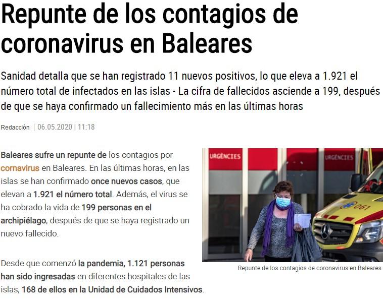 Los contagios experimentan repuntes en toda España tras el comienzo de la desescalada