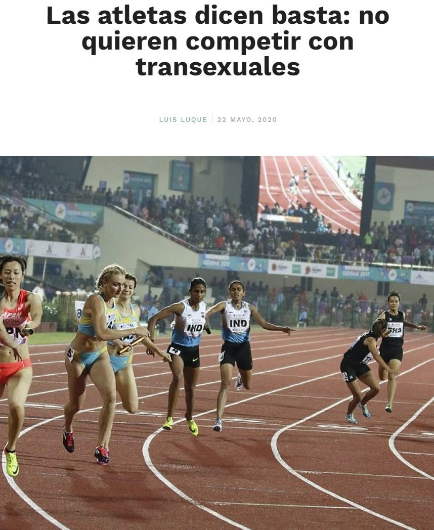 Malditas atletas transfóbicas...