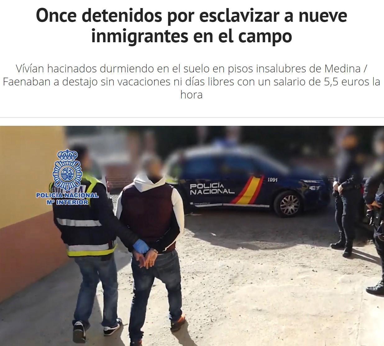 """Dos noticias se leen mejor juntas: """"El campo pide el cese de Yolanda Díaz tras enviar inspectores de trabajo en busca de esclavitud"""""""