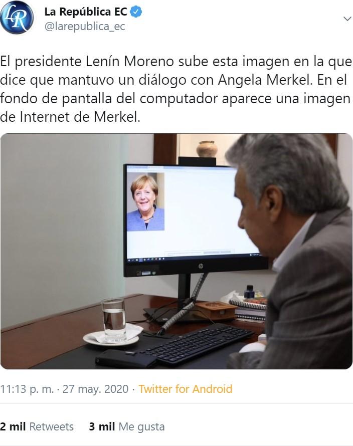 """Lenín Moreno ha creado el concepto """"FOTOCONFERENCIA"""""""