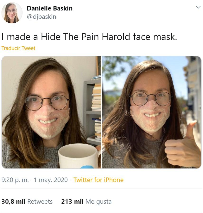 Una mascarilla con la que siempre lucirás la sonrisa de Harold