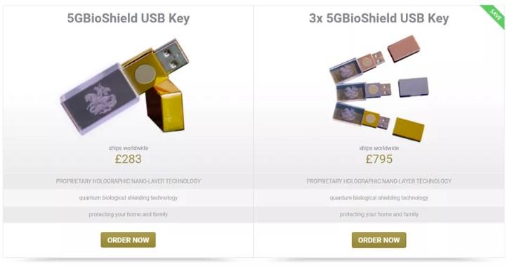 '5GBioShield', el pincho USB anti-5G fake que se vende a 350 dólares