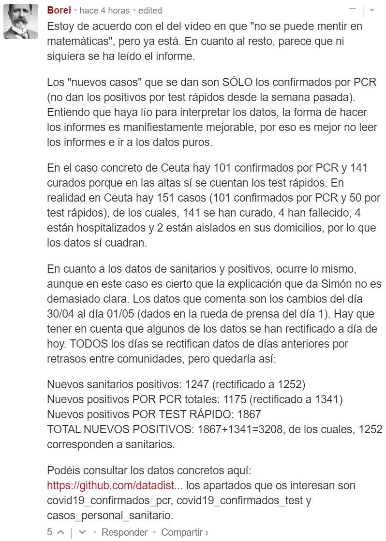"""Fernando Simón """"pillado"""": ¿No se suman los sanitarios a los positivos?"""