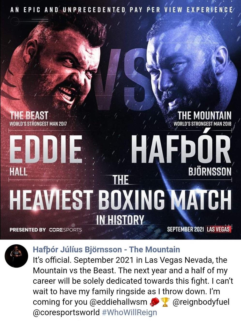 La Montaña y La Bestia: Los dos hombres más fuertes del mundo se han retado a un combate de boxeo