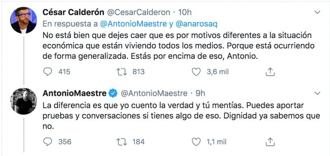 Antonio Maestre y César Calderón: La venganza se sirve en plato frío...