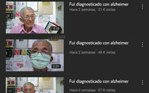 """Fui diagnosticado con alzheimer"""