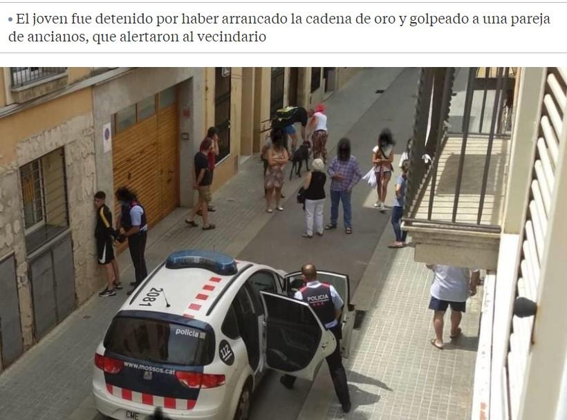 Vecinos de Mataró retienen a un menor que había agredido y robado a unos ancianos