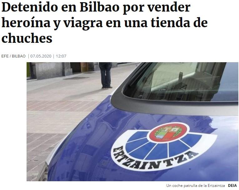 Maestro de la discreción: Detenido por vender heroína y pastillas en una tienda de chuches en Bilbao