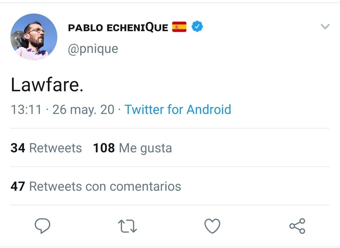 Cuando va contra el PP, es un éxito de la justicia. Cuando va contra el PSOE... adivinad.