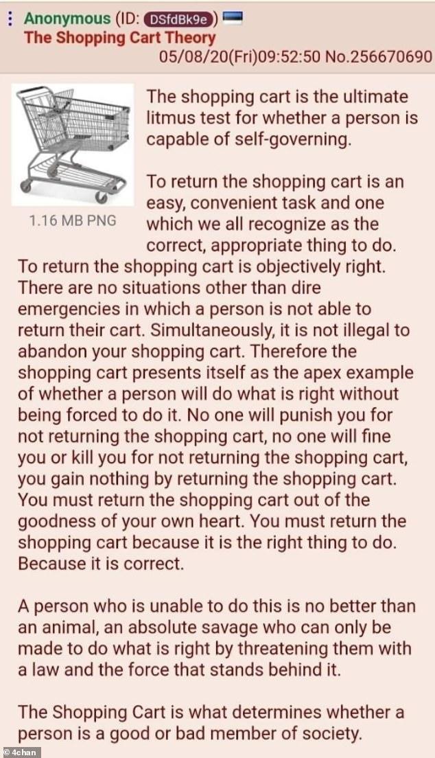 ¿Eres una buena persona?: Si terminas de hacer la compra, el carro no tiene moneda, y no hay nadie viéndote... ¿Te molestarías en llevarlo a su lugar?