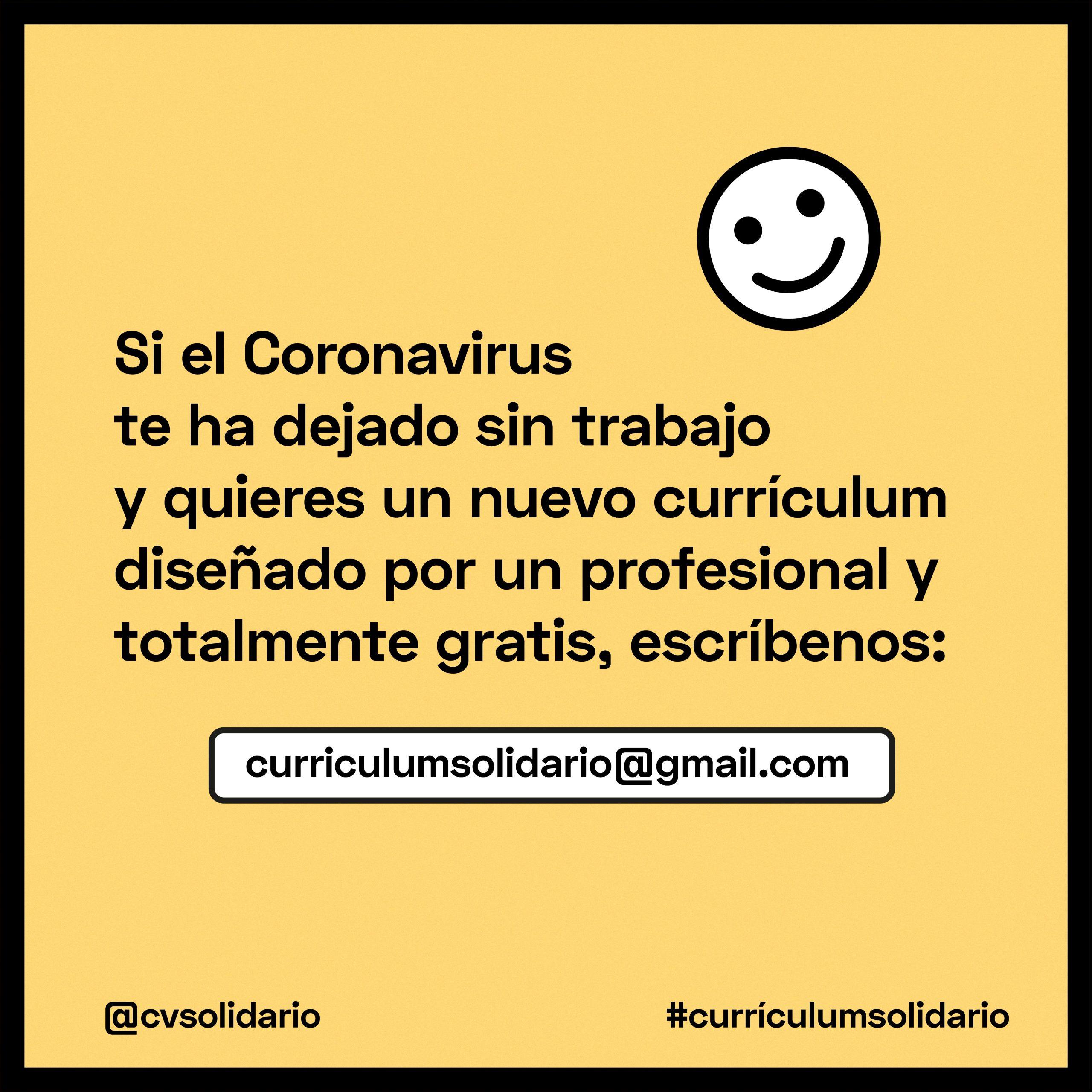 Currículum Solidario: la iniciativa de un finolier para ayudar a la gente que se ha quedado sin trabajo