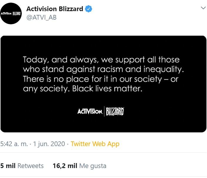 Activision está muy comprometida con la gente negra