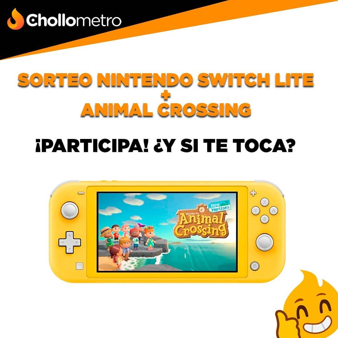 Chollometro sortea una Nintendo Switch Lite + Animal Crossing