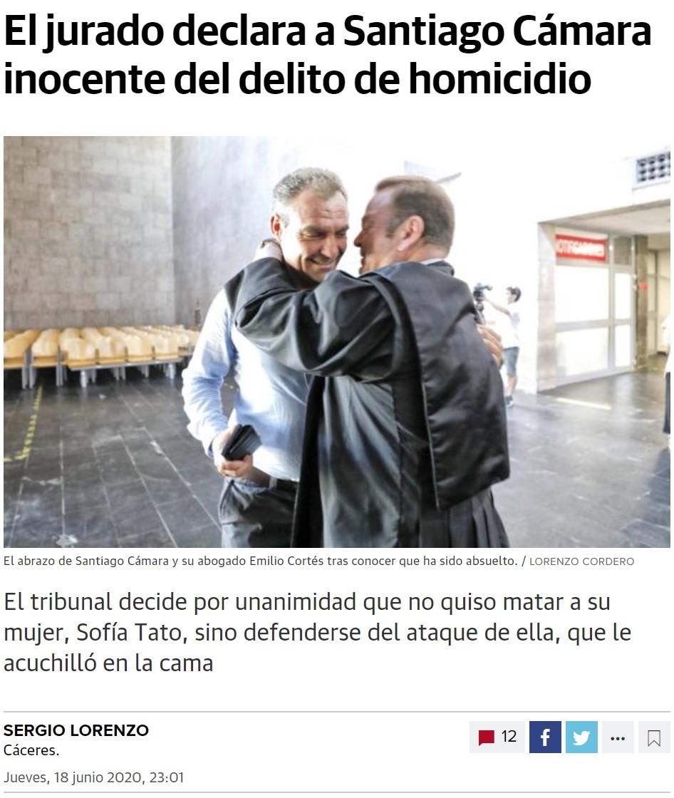 El peligroso asesino machista ha resultado ser un señor que había recibido 16 cuchillasos mientras dormía y simplemente se defendió
