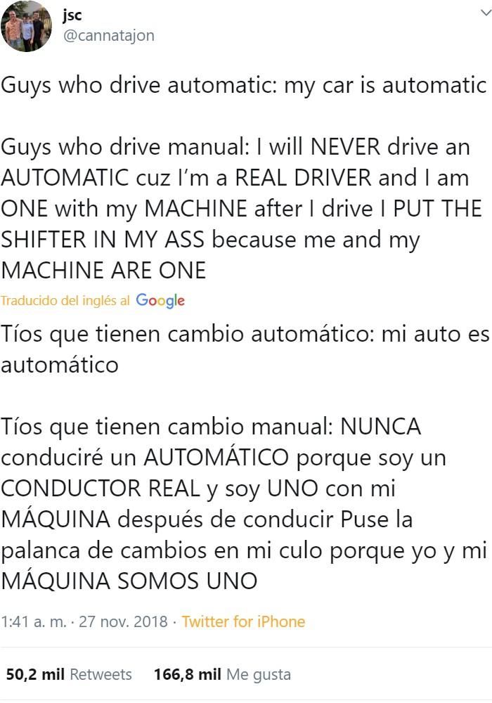Automático vs manual