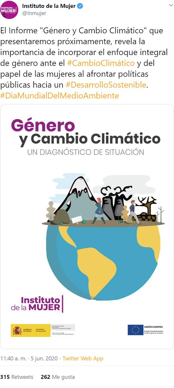 Me muero por leer el informe sobre el papel de las mujeres en el cambio climático