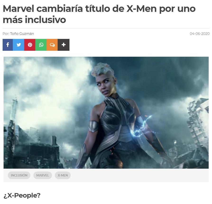 Venga, espero propuestas en los comentarios para el nuevo nombre de la franquicia machirula X-Men