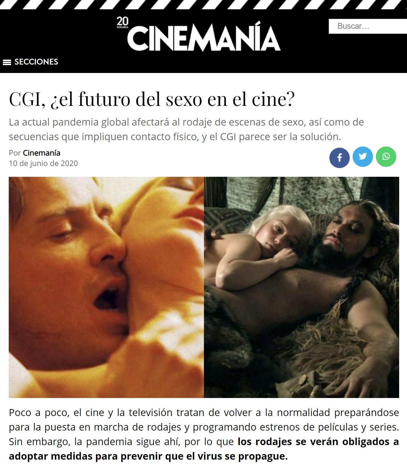 CGI, la nueva normalidad de los encuentros secsuales en el cine