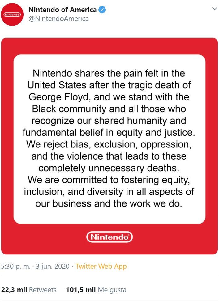 Eso le pasa a Nintendo por emitir el comunicado en fondo rojo no en negro