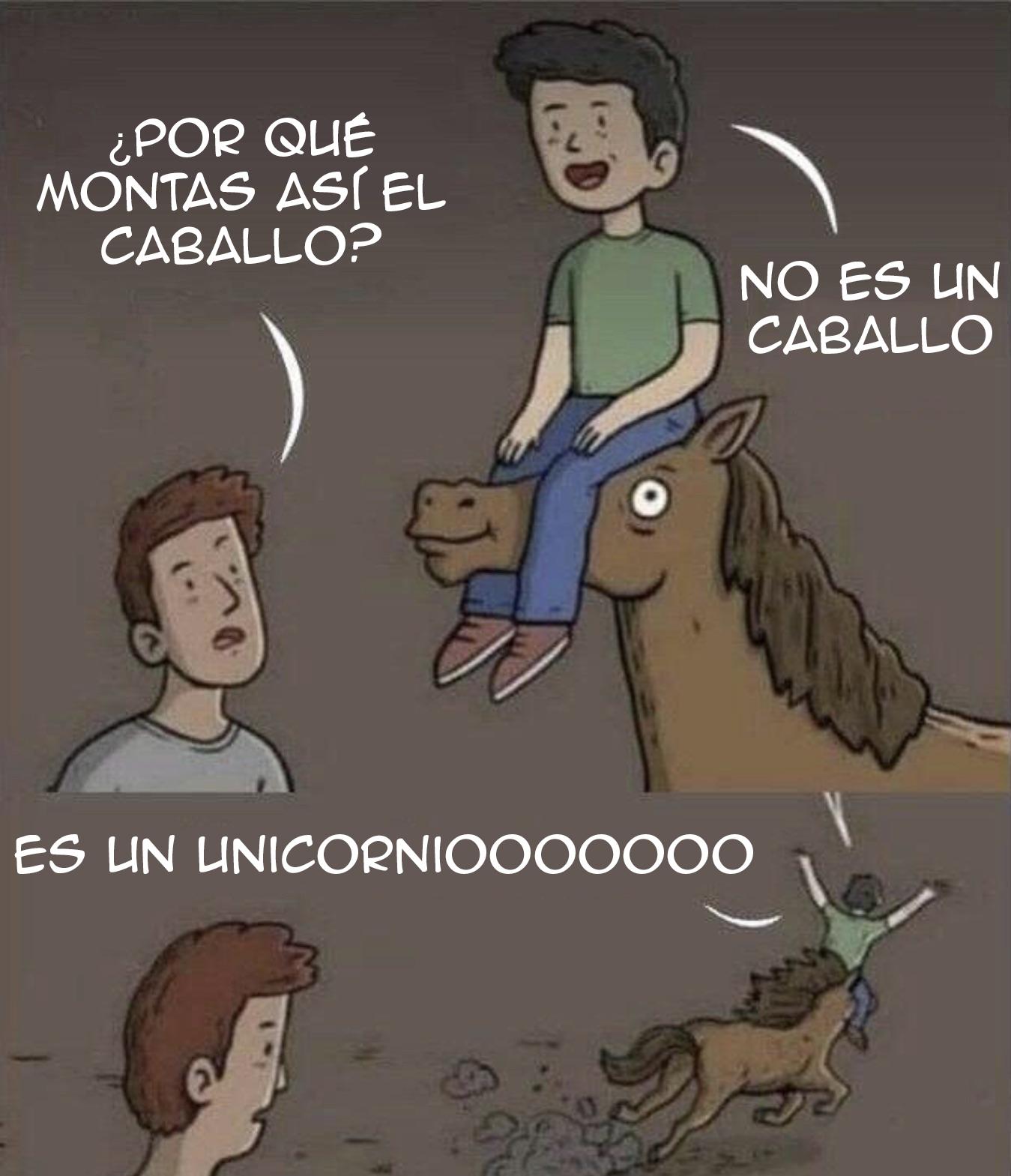 ¿Por qué montas así en caballo?