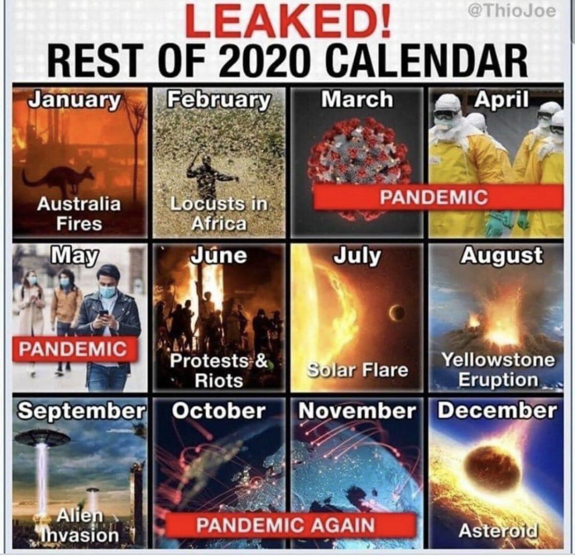 Ya se ha filtrado el calendario completo de desastres de 2020