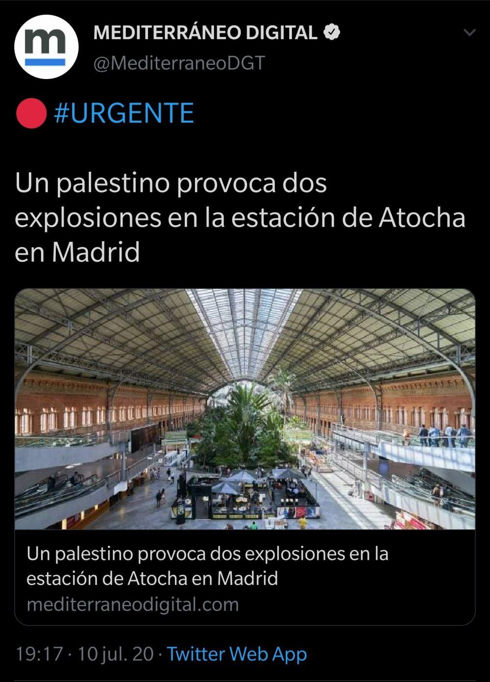 Mediterráneo Digital acaba de batir el record de sensacionalismo con este titular