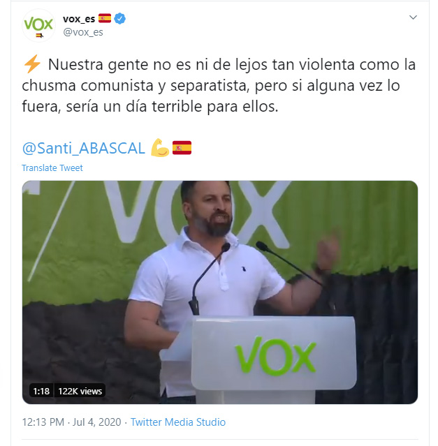 Aprende inglés con VOX