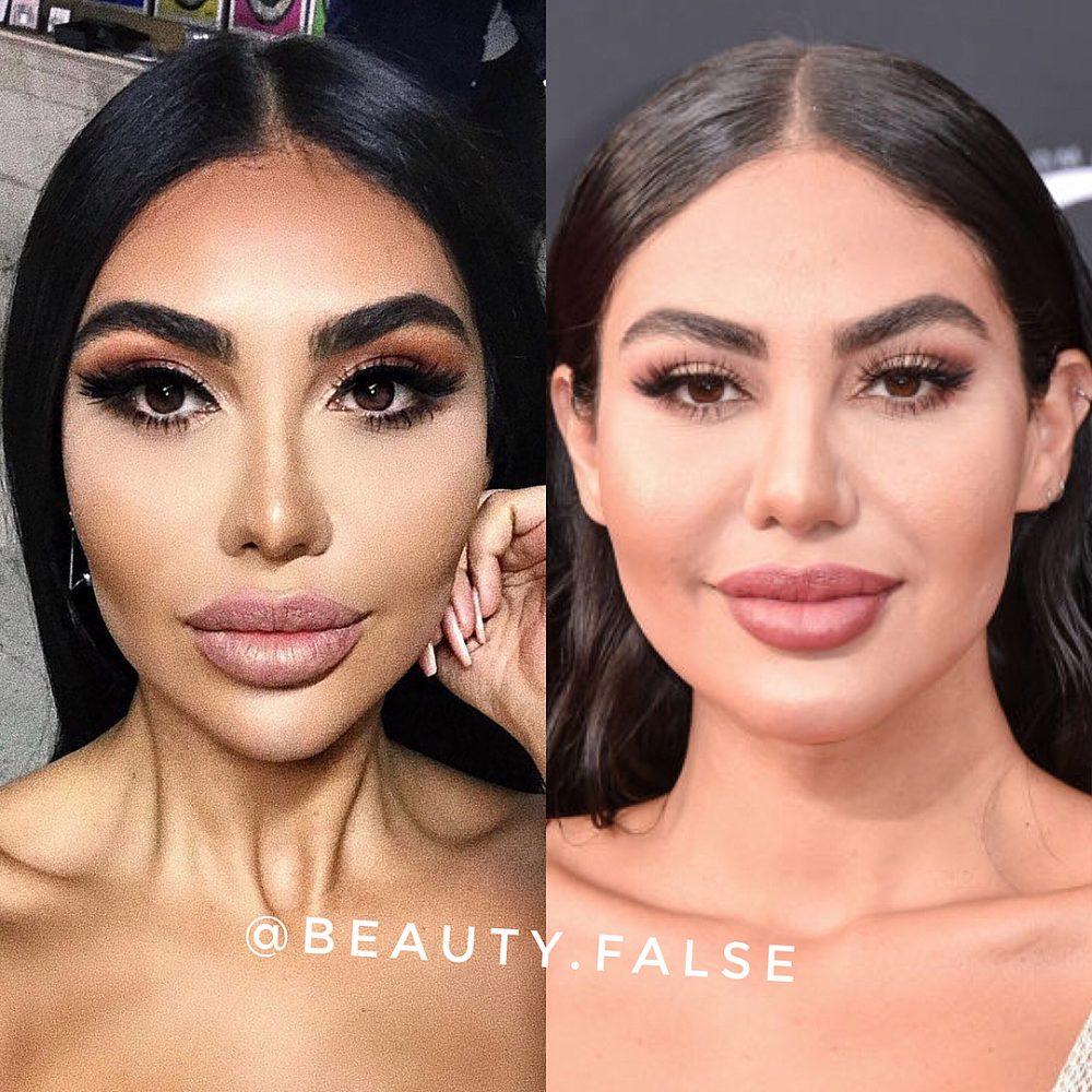 Emosido engañado con el maquillaje y el Photoshop