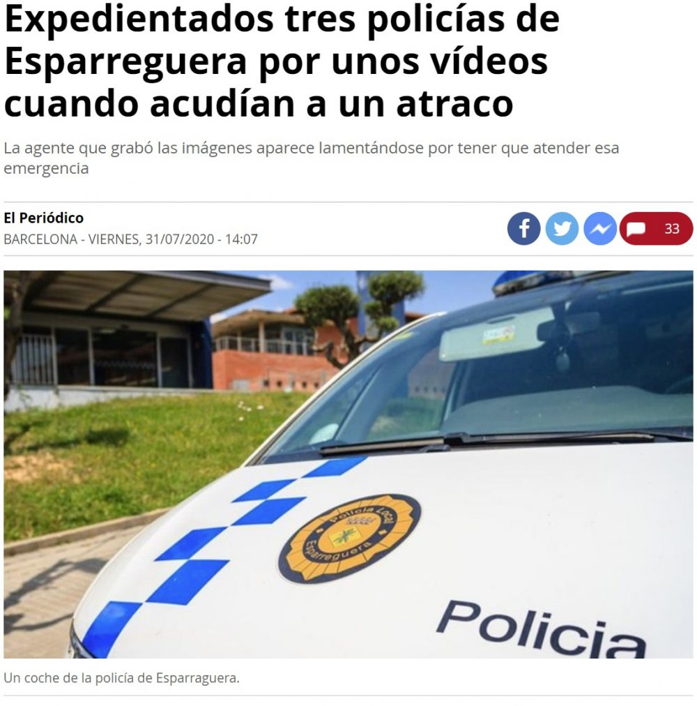 Me grabaré haciendo chorradas con el uniforme de policía y de servicio... ¿qué podría salir mal?