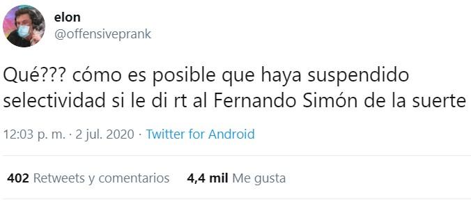 Estúpido y sensuaI Fernando Simón...