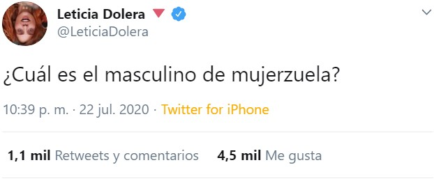 400IQ Leticia Dolera strikes again...