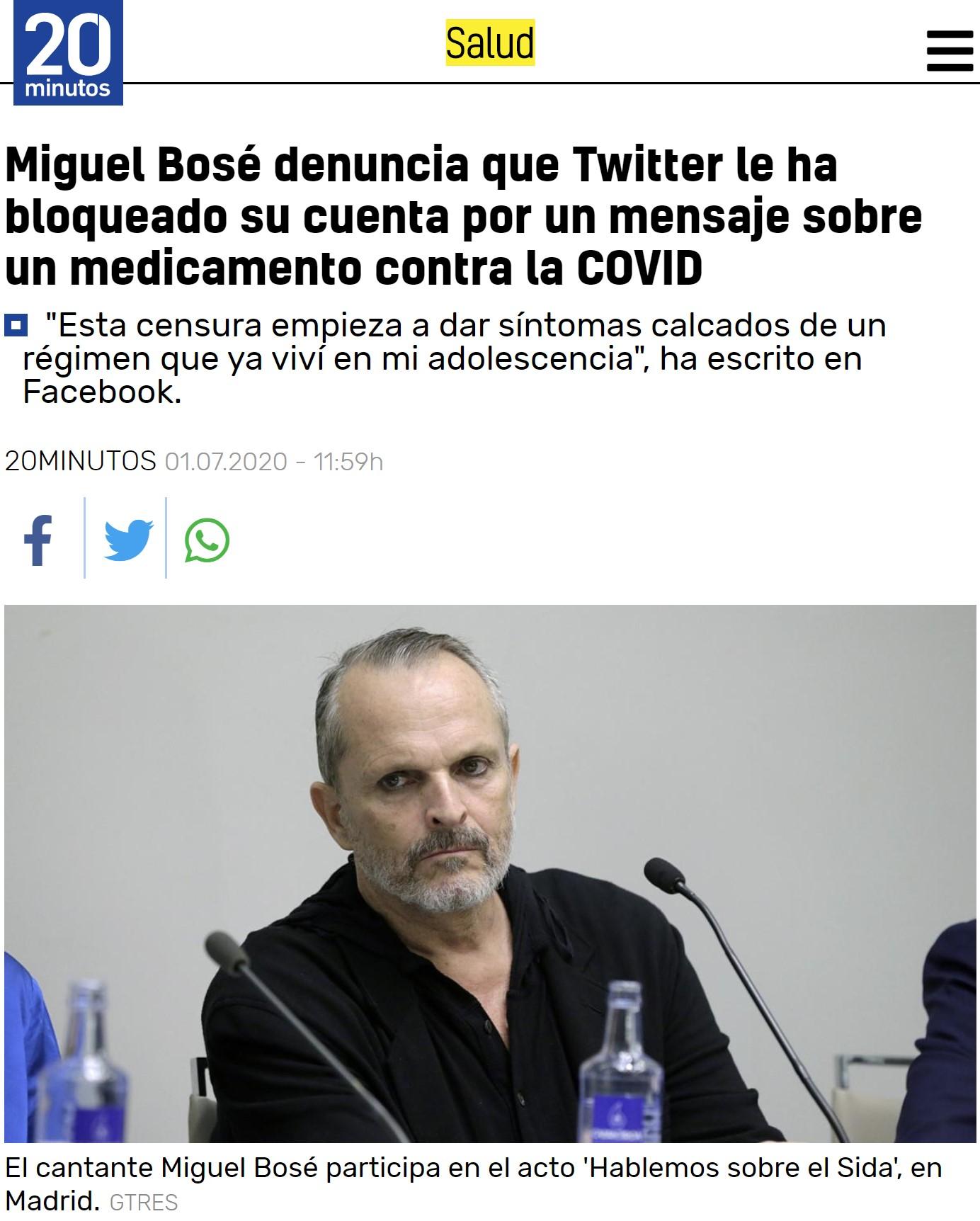 Miguel Bosé se queja de que no le dejan ser retarded en redes sociales