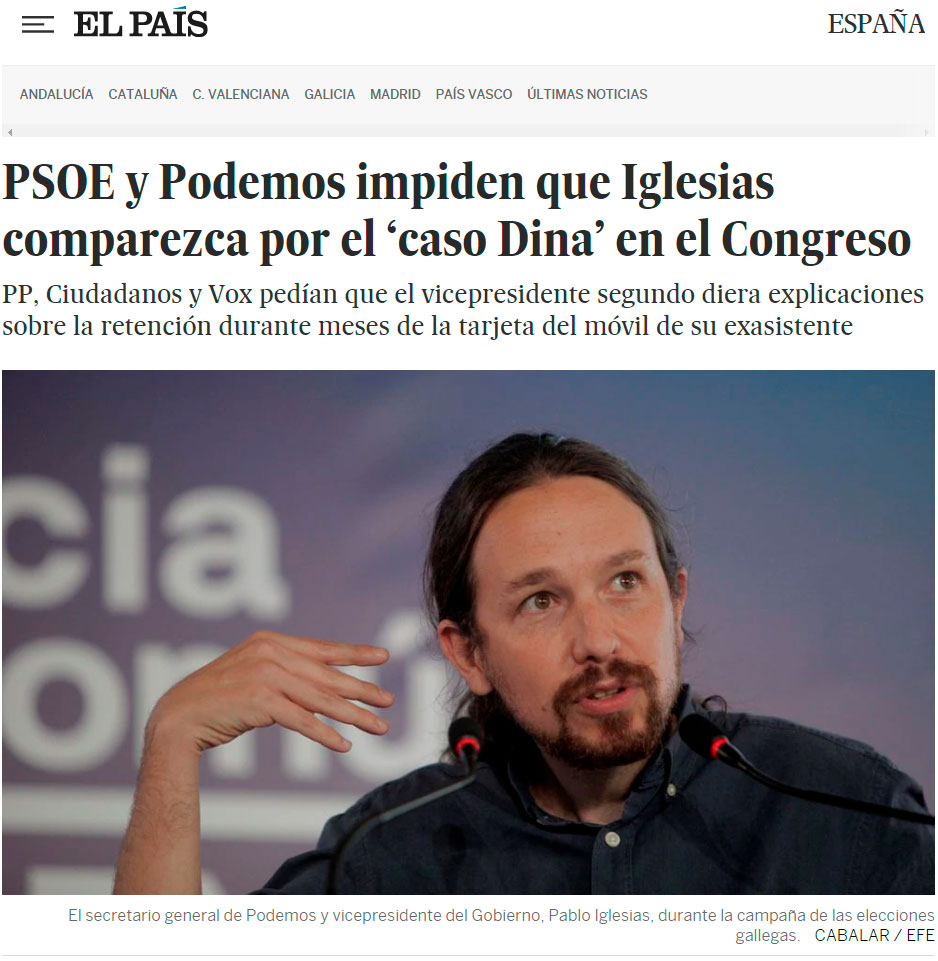 Grandes éxitos de la coherencia de Pablo Iglesias