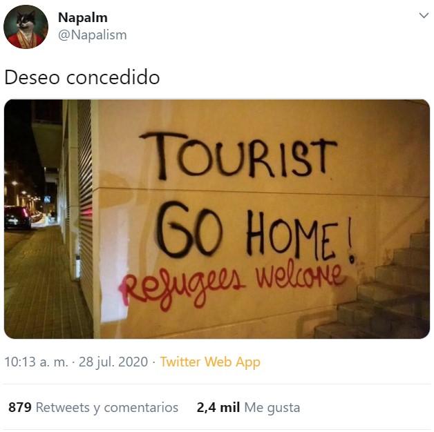 """El peso del turismo en el PIB es del 13% (nacional+internacional)¿Eso es fiarlo """"todo"""" al turismo? No: el 87% del PIB NO es turismo."""