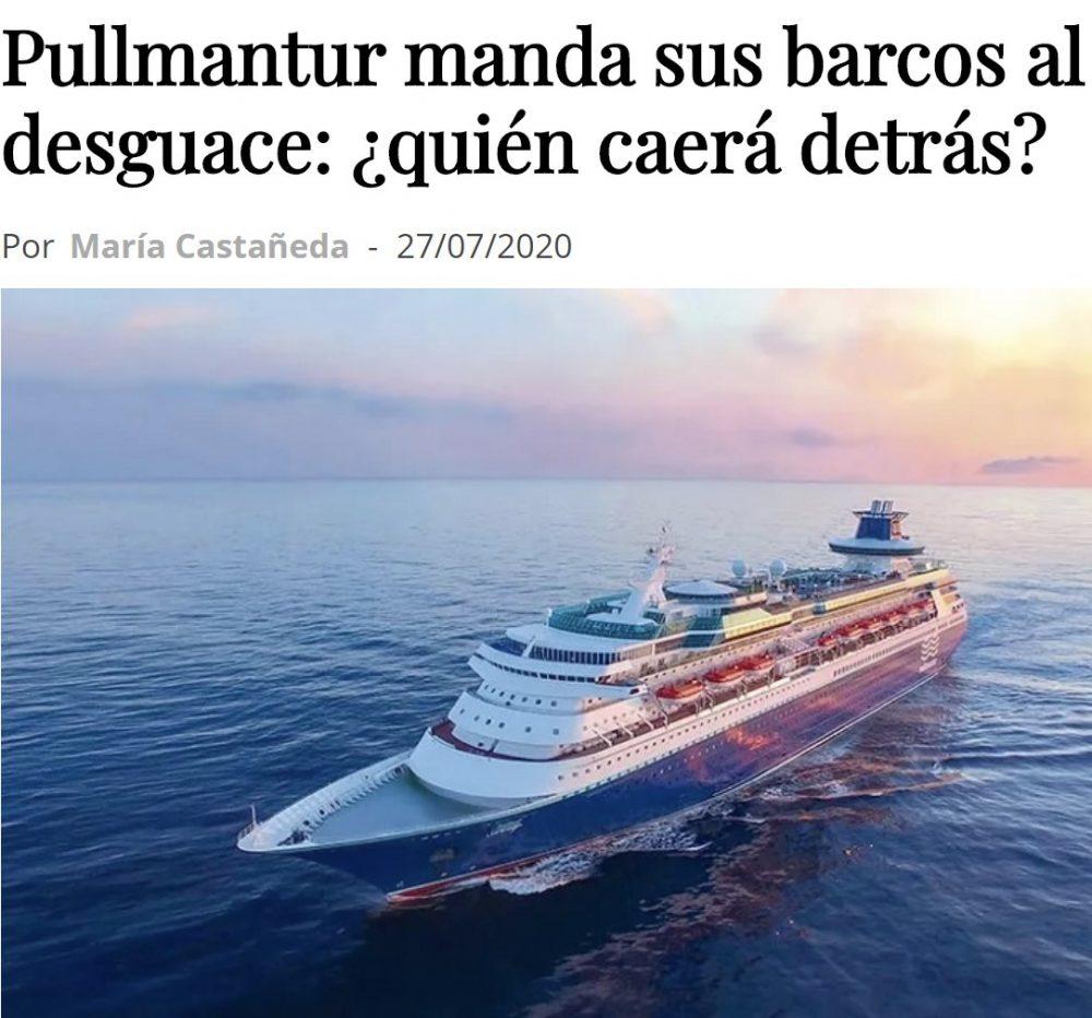 Después de meses parados, Pullmantur decide llevar sus trasatlánticos al desguace