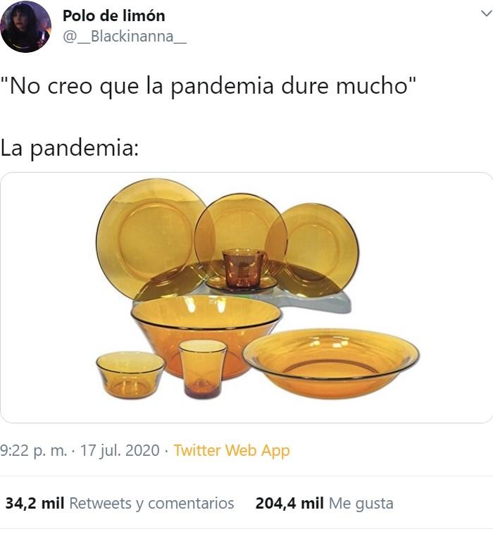 Espero que la pandemia no dure mucho...