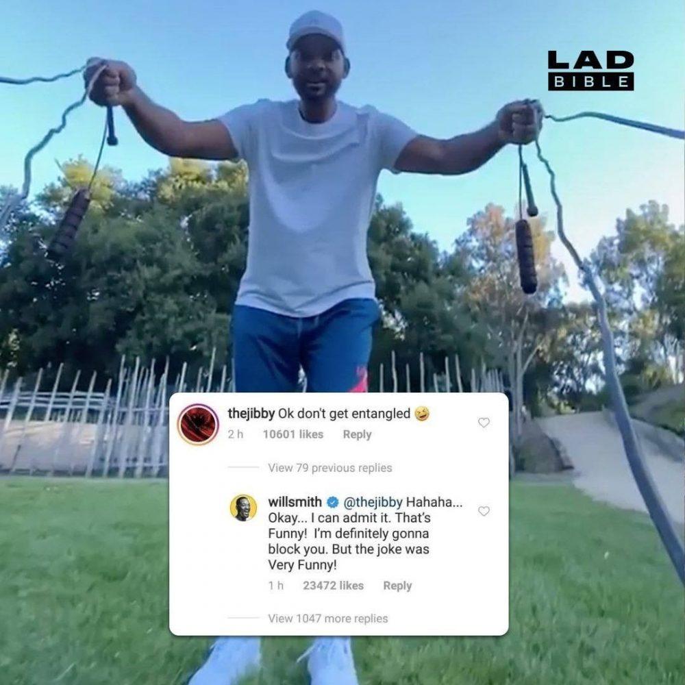 Will Smith reacciona a un chiste sobre la forma que tuvo su mujer de llamar a la relación que tuvo con un rapero amigo de su hijo