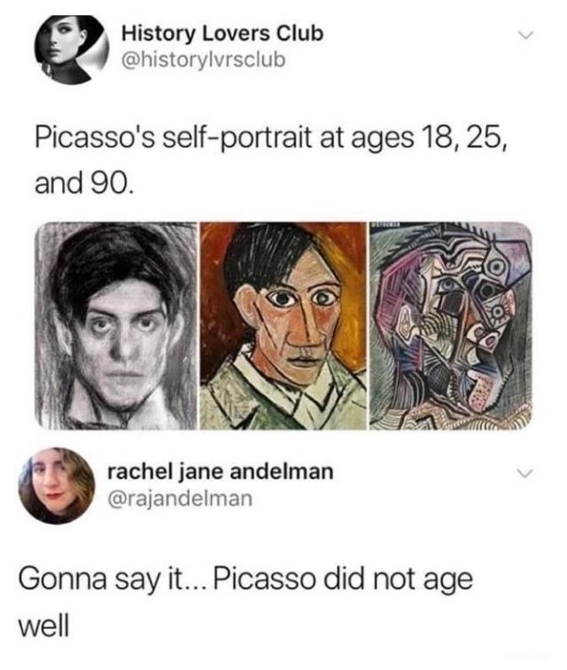 Picasso se fue bugueando con la edad...