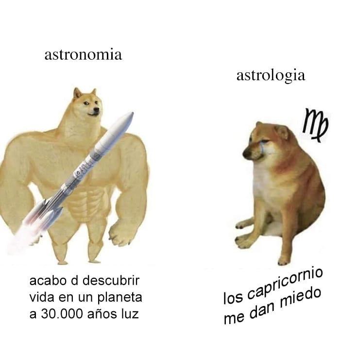 Astronomía vs astrología