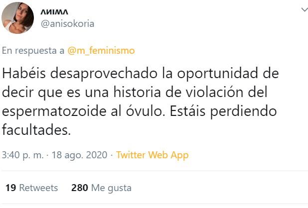 No gana el espermatozoide más rápido y que mejor se oriente, en realidad es Cristobal Colón buscando las Indias, y el machismo mata, y eso...