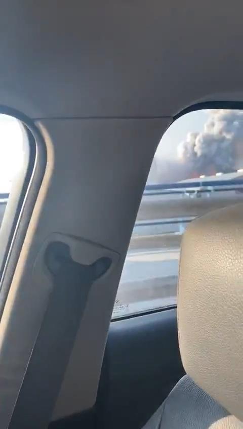 """Estás grabando un """"incendio"""" desde tu coche y... BUM!"""