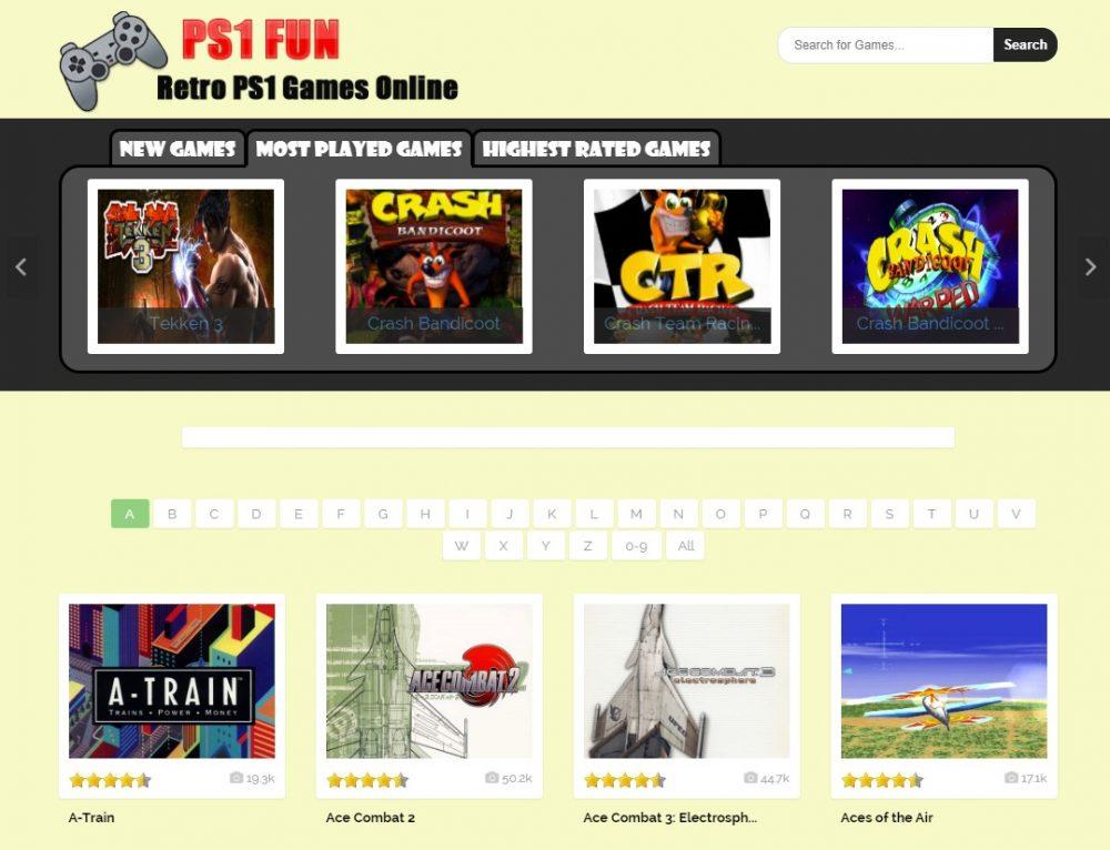 PS1FUN: Juega a la PS1 desde tu navegador, sin instalar nada
