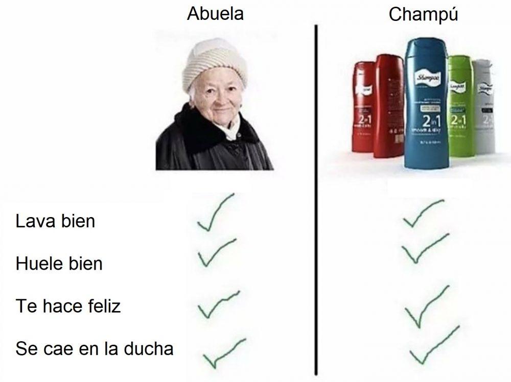 Abuelas vs Champú